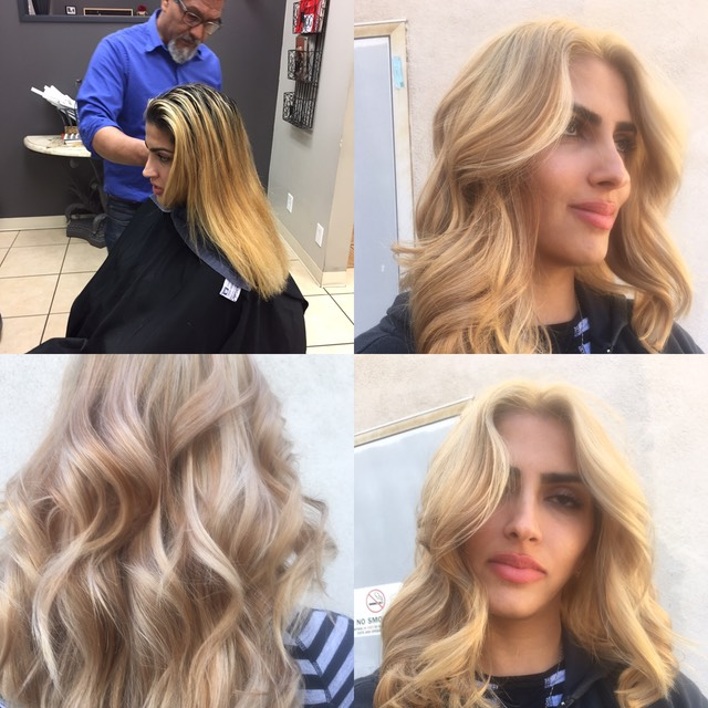 blonde color for dark brunette hair 2017