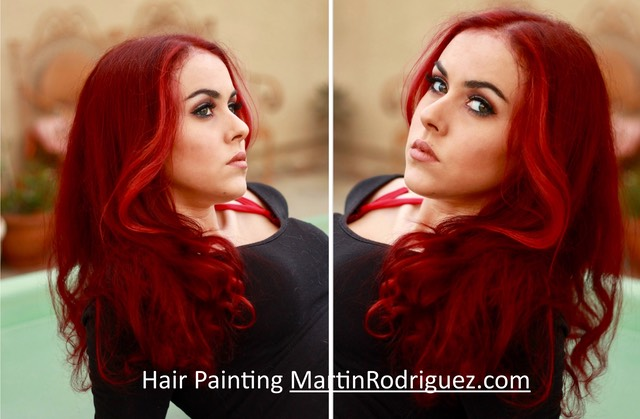 red hair coloring by Martin
