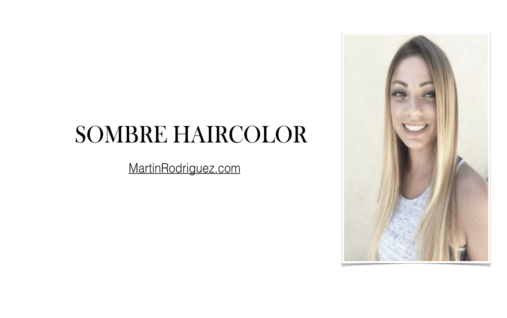 Sombre hair color for long hair
