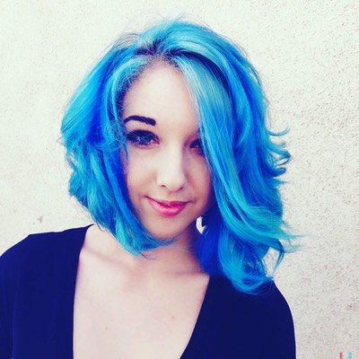 Vivid blue hair color