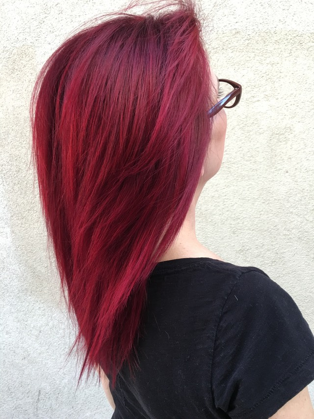 Red velvet hair coloring