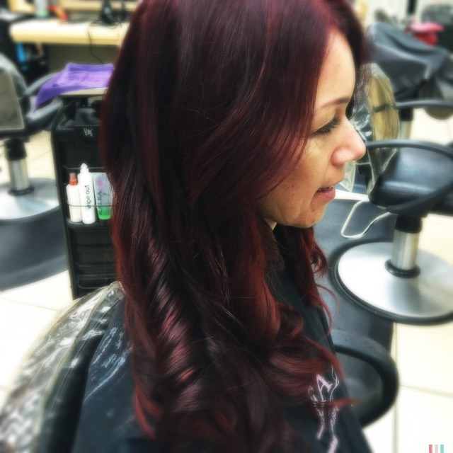Mocha red hair painting