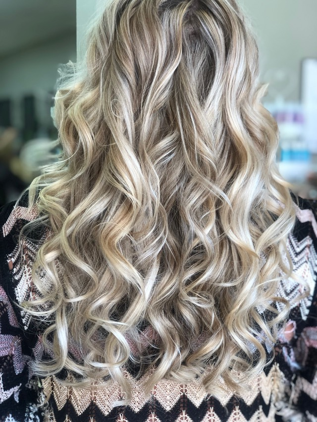 Hair painting long hair with contour tones