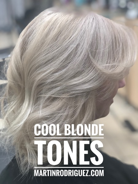 Hair color blonde icy white chromastics color 2018-2019