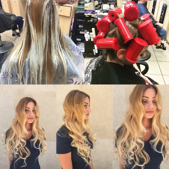 Balayage hair and styling