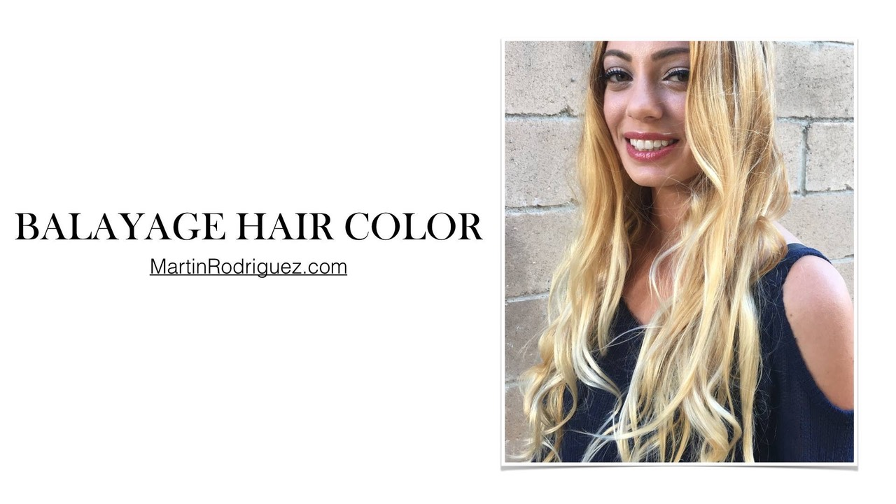 Balayage hair coloring on long hair
