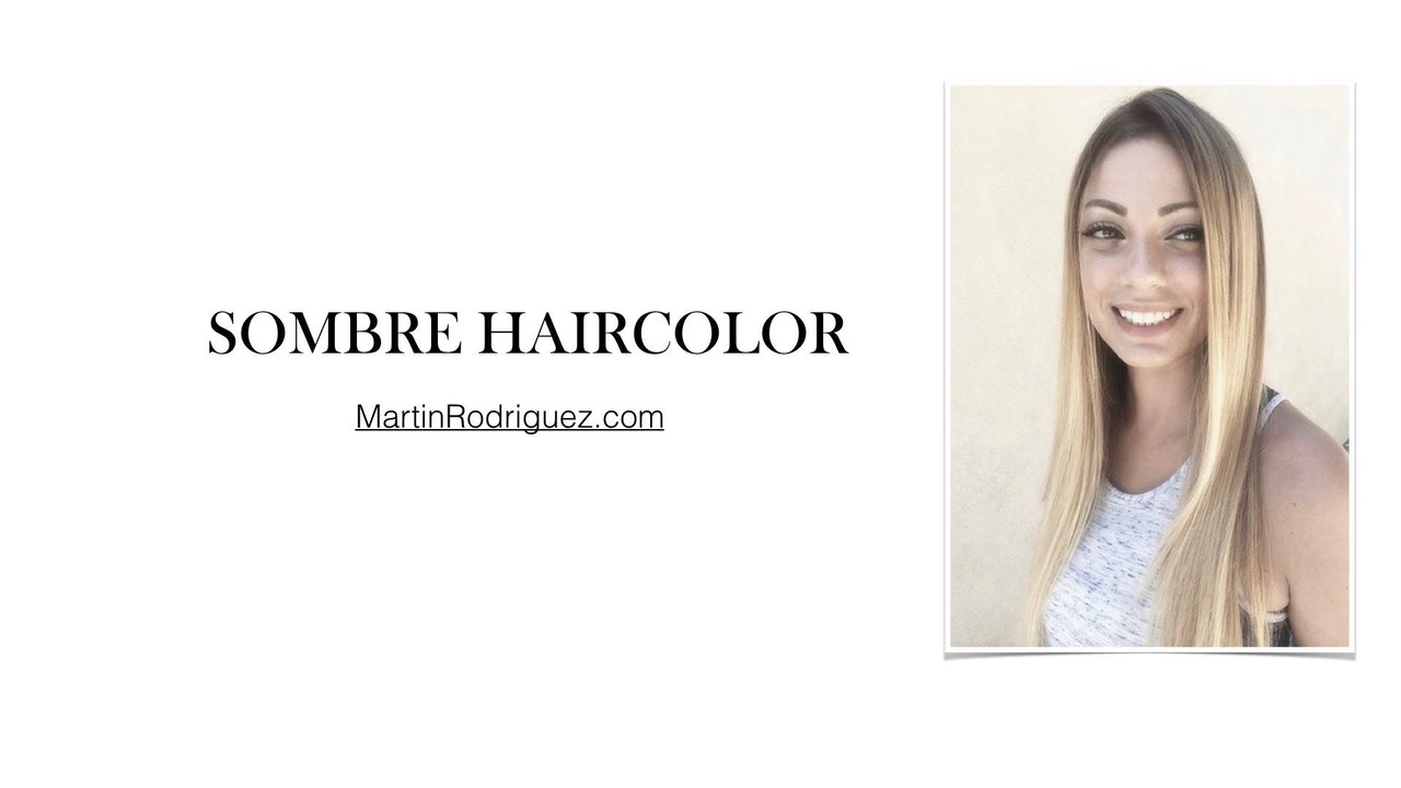 SOMBRE HAIR COLOR