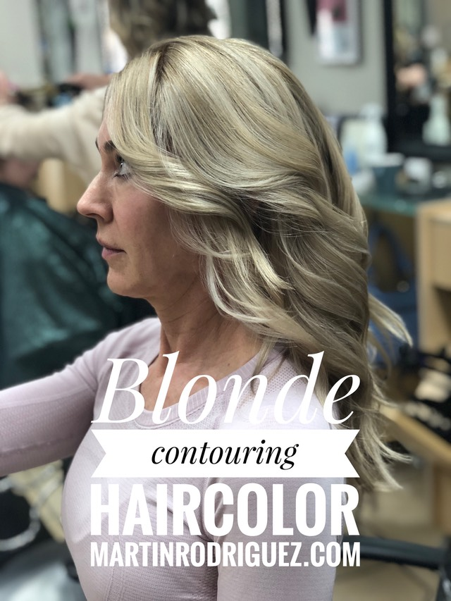 Blonde hair-color expert