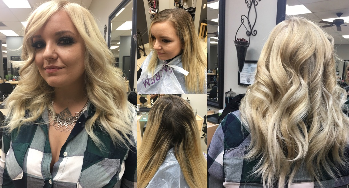 blond hair color correction