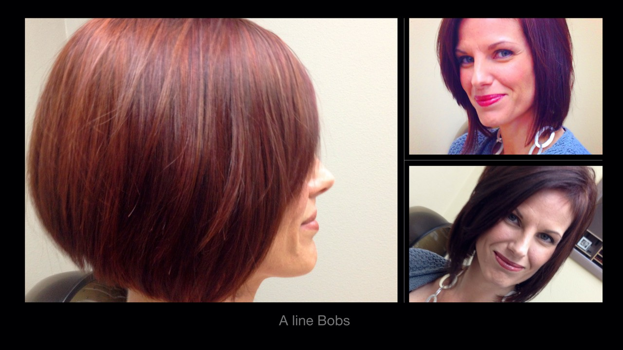 A line bob hair cuts styles