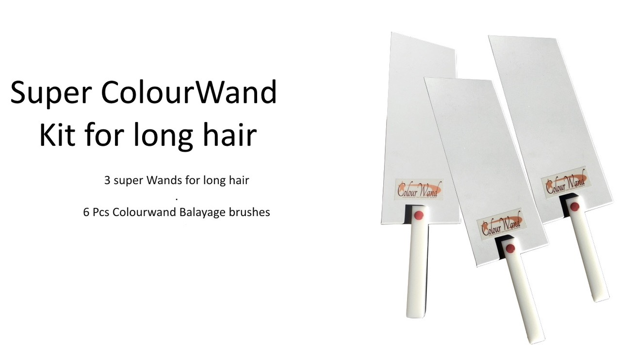 super colourwand intro kit,3 super Wands for long hair . 6 Pcs Colourwand Balayage brushes $140.00