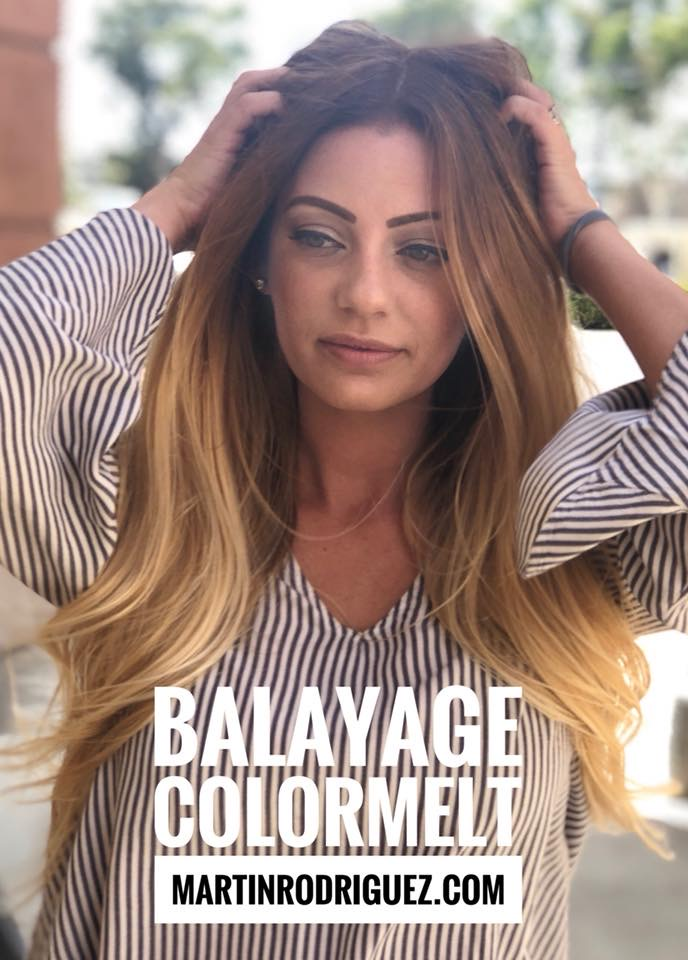 Color-melt Balayage on long hair 2018