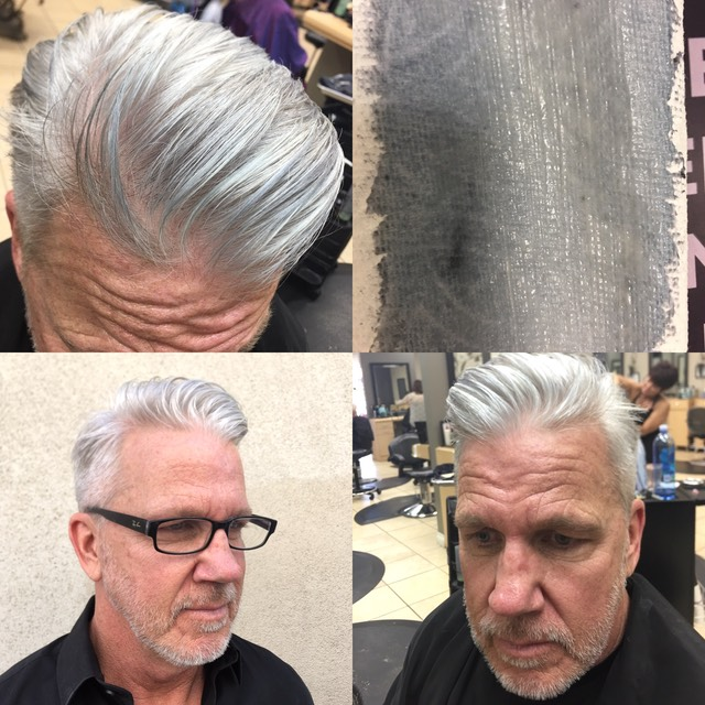 Gray hair color for men looks natural by Martin Rodriguez