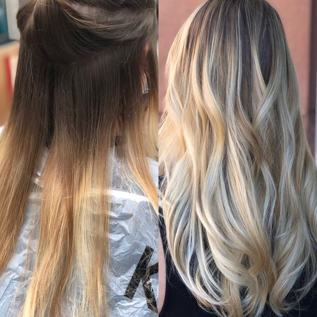 Hair color correction 2018 no brassy colors, Blonde hair