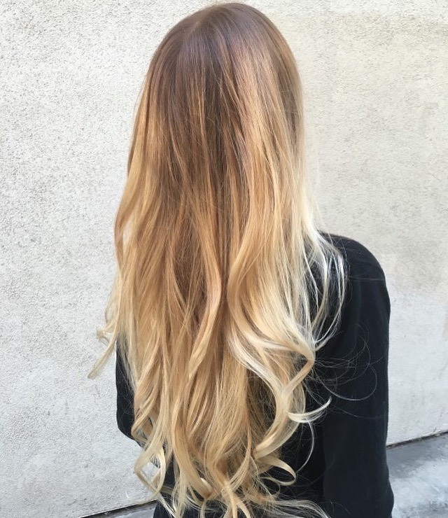 Balayage hair color