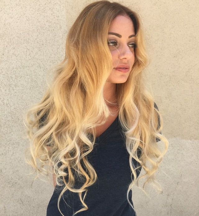 Balayage Blonde hair coloring