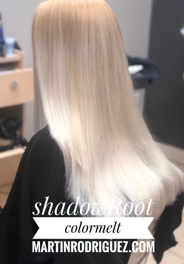 Shadow root color melt with Balayage